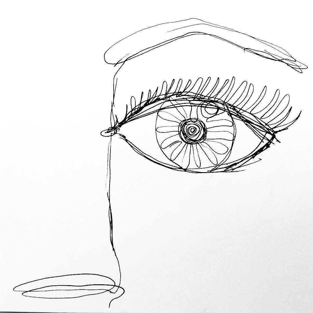 Nunca hubiera - eye sketch