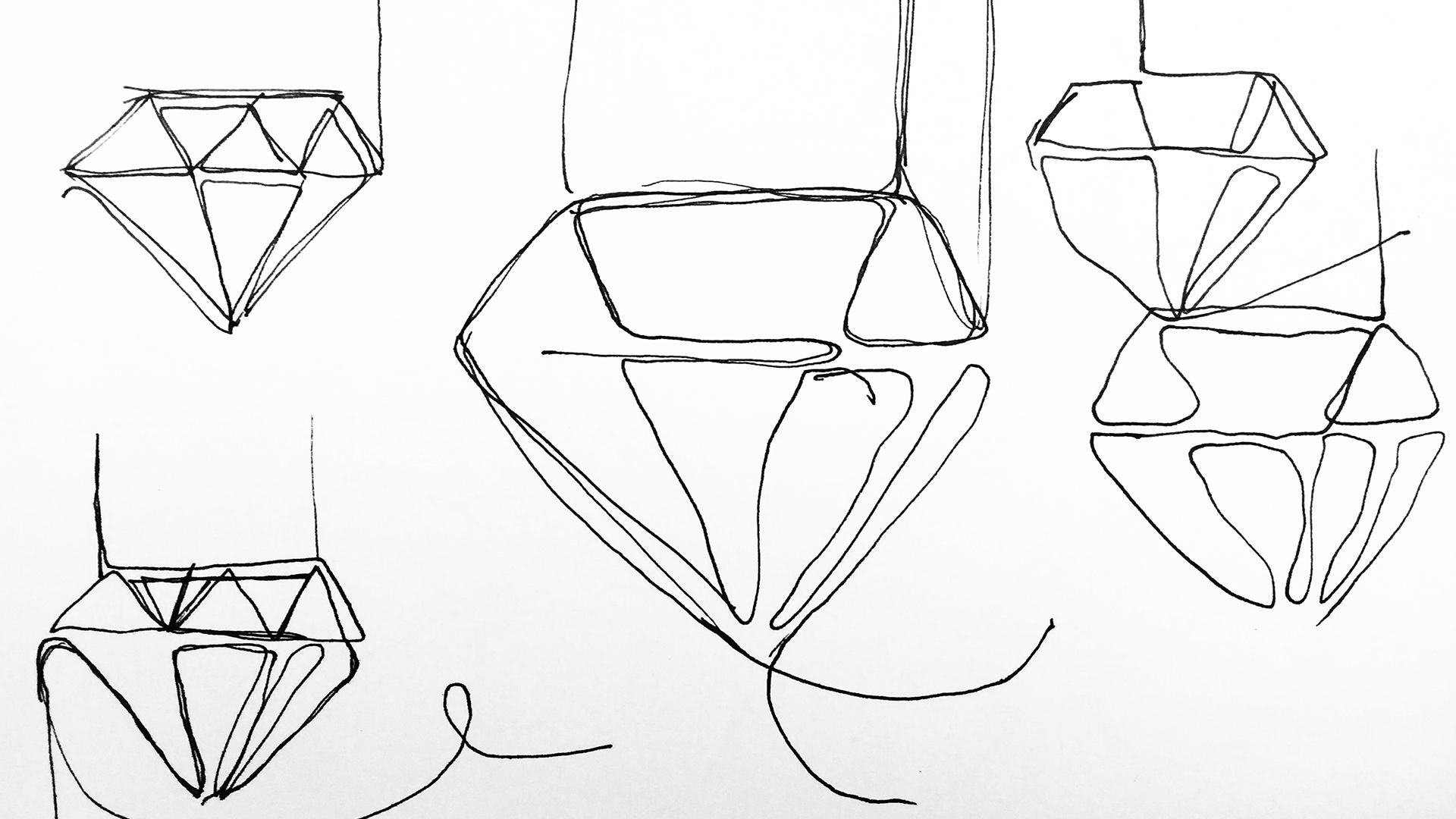 Nunca hubiera - diamonds sketch